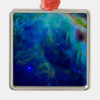 Beautiful Orion Nebula Silver-Colored Square Ornament