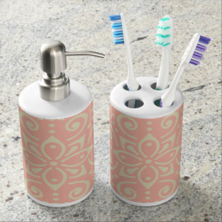 Beautiful Ornamental BoHo Kaleidoscopic Chic Style Soap Dispenser And Toothbrush Holder