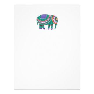 Beautiful Ornate Elephant Customized Letterhead