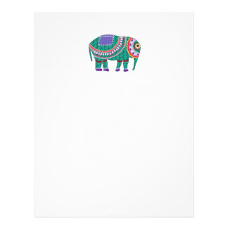 Beautiful Ornate Elephant Letterhead