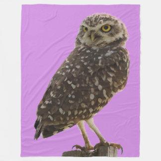 Beautiful Owl Fleece Blanket