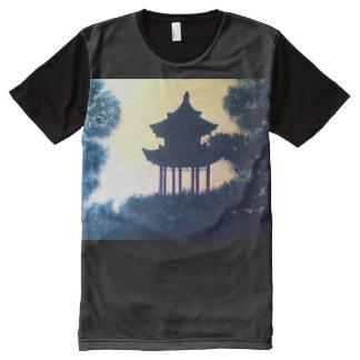 Beautiful Pagoda Silhouette Art Scenery Landscape