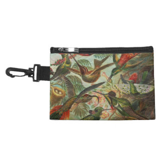 Beautiful Painted Vintage Birds Accessory Bag