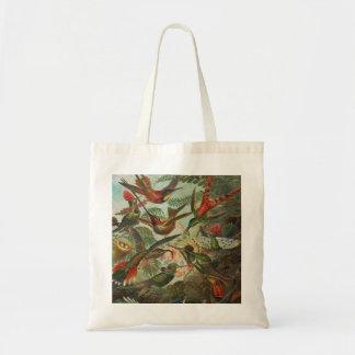 Beautiful Painted Vintage Birds Budget Tote Bag