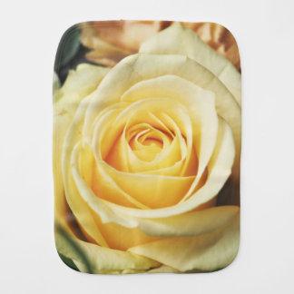 Beautiful Pale Yellow Rose Baby Burp Cloth