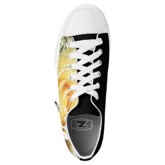 Beautiful Pale Yellow Rose Low-Top Sneakers
