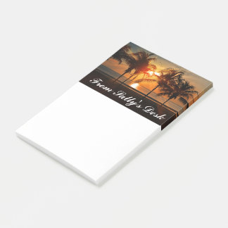 Beautiful Palm Trees Beach at Sunset Personalized Post-it Notes