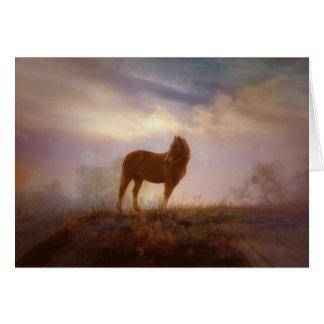 Beautiful Palomino Mustang Blank Note Card