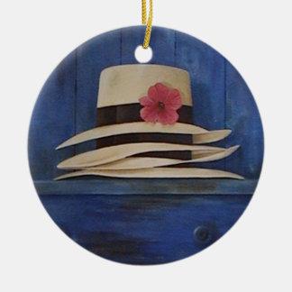 Beautiful Panama Hats wall hanging ornament