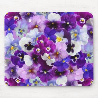 Beautiful Pansies Spring Flowers Computer Mousepad