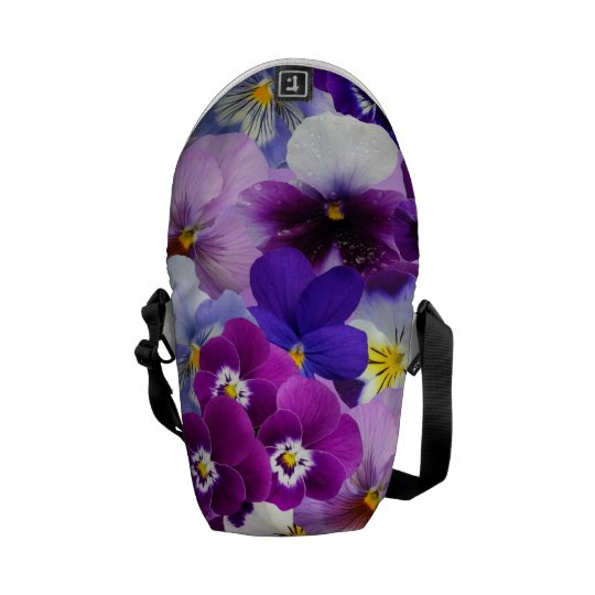 Beautiful Pansies Spring Flowers Messenger Bag