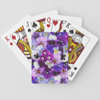 Beautiful Pansies Spring Flowers Playing Cards