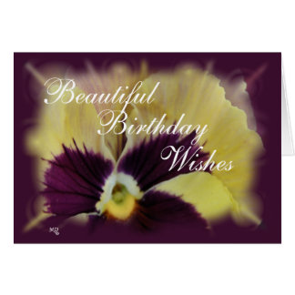 Beautiful Pansy-customize any occasion Card