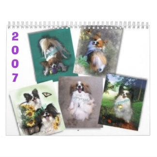 Beautiful Papillons, 2007 Wall Calendars