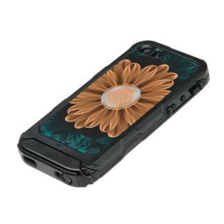 Beautiful Paradise Chrysanthemum of Orange & Aqua Incipio ATLAS ID™ iPhone 5 Case