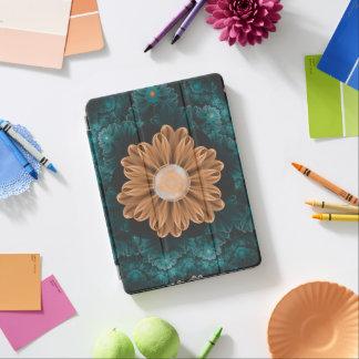 Beautiful Paradise Chrysanthemum of Orange & Aqua iPad Air Cover