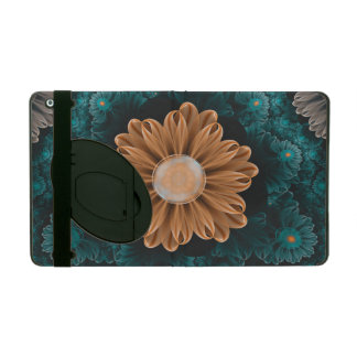 Beautiful Paradise Chrysanthemum of Orange & Aqua iPad Folio Case