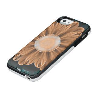 Beautiful Paradise Chrysanthemum of Orange & Aqua iPhone SE/5/5s Battery Case