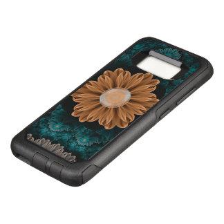 Beautiful Paradise Chrysanthemum of Orange & Aqua OtterBox Commuter Samsung Galaxy S8 Case
