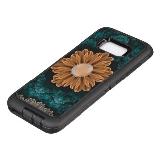 Beautiful Paradise Chrysanthemum of Orange & Aqua OtterBox Defender Samsung Galaxy S8+ Case