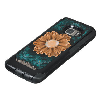 Beautiful Paradise Chrysanthemum of Orange & Aqua OtterBox Samsung Galaxy S7 Case