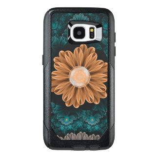 Beautiful Paradise Chrysanthemum of Orange & Aqua OtterBox Samsung Galaxy S7 Edge Case