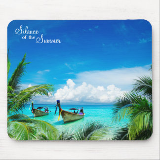 Beautiful Paradise with Ships Mouse Pad