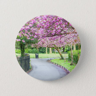 Beautiful park during the spring 2 inch round button