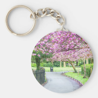 Beautiful park during the spring keychain