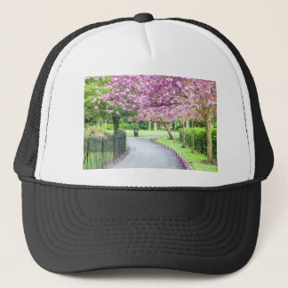 Beautiful park during the spring trucker hat