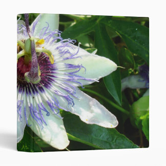 Beautiful Passion Flower With Garden Background Binder