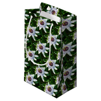 Beautiful Passion Flower With Garden Background Small Gift Bag