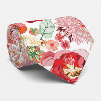 Beautiful Pastel Romantic Pink Red Roses. Girly Tie