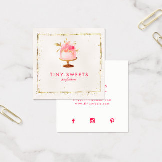 ★ Beautiful  Patisserie ,Bakery ,Cakes & Sweets Business Card