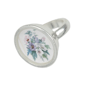 Beautiful  Pattern Bouquet of Rose of Sharon Rings