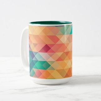 beautiful pattern fashion style rich looks colours Two-Tone coffee mug