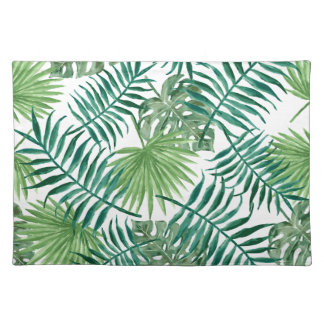 beautiful pattern fashion style rich looks  green placemat