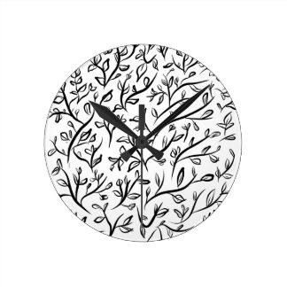 beautiful pattern fashion style rich looks round clock