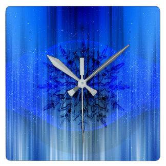 beautiful pattern fashion style rich looks square wall clock