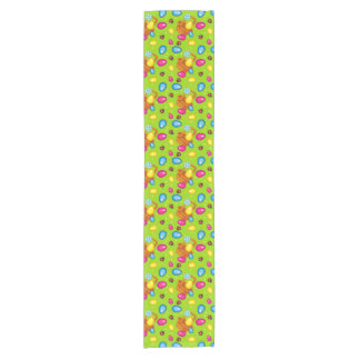 Beautiful pattern with Easter basket Short Table Runner