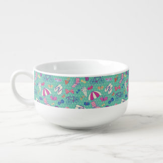 Beautiful Pattern With Summer Elements Soup Mug