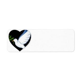 Beautiful Peace Dove Return Address Labels