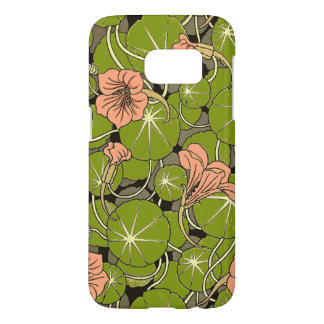 Beautiful Peach WaterLily Pattern Galaxy S7 Case