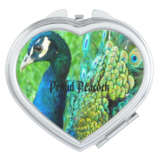 Beautiful Peacock Compact Mirror