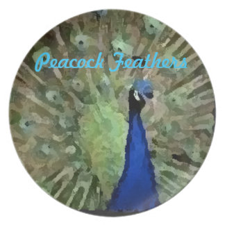 Beautiful Peacock Design Plate Party Plates