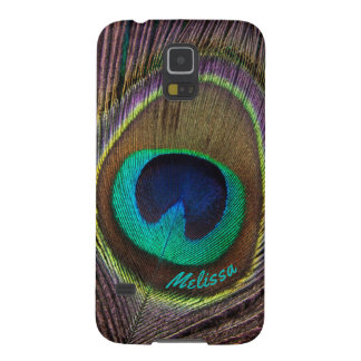 Beautiful Peacock Feather Eye, Your Name Cases For Galaxy S5