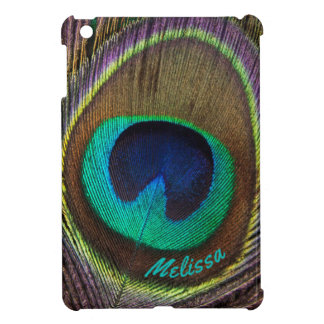 Beautiful Peacock Feather Eye, Your Name iPad Mini Case