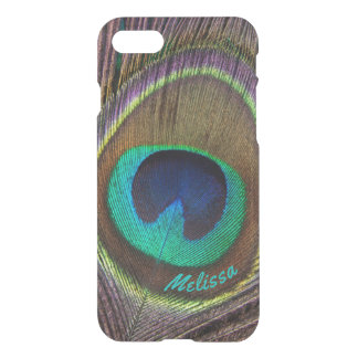 Beautiful Peacock Feather Eye, Your Name iPhone 7 Case