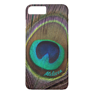 Beautiful Peacock Feather Eye, Your Name iPhone 8 Plus/7 Plus Case