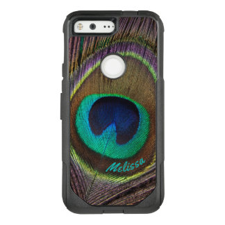Beautiful Peacock Feather Eye, Your Name OtterBox Commuter Google Pixel Case